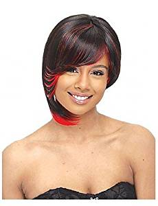 Wigs have an attractive convenience fashion New Arrival Mix Color(Brown&Red) Short Straight Side Bang Hair Party Wig Cosplay wigs Synthetic Wigs