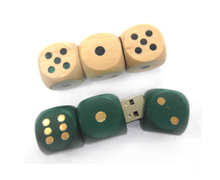 Wooden Flash Drive Dice