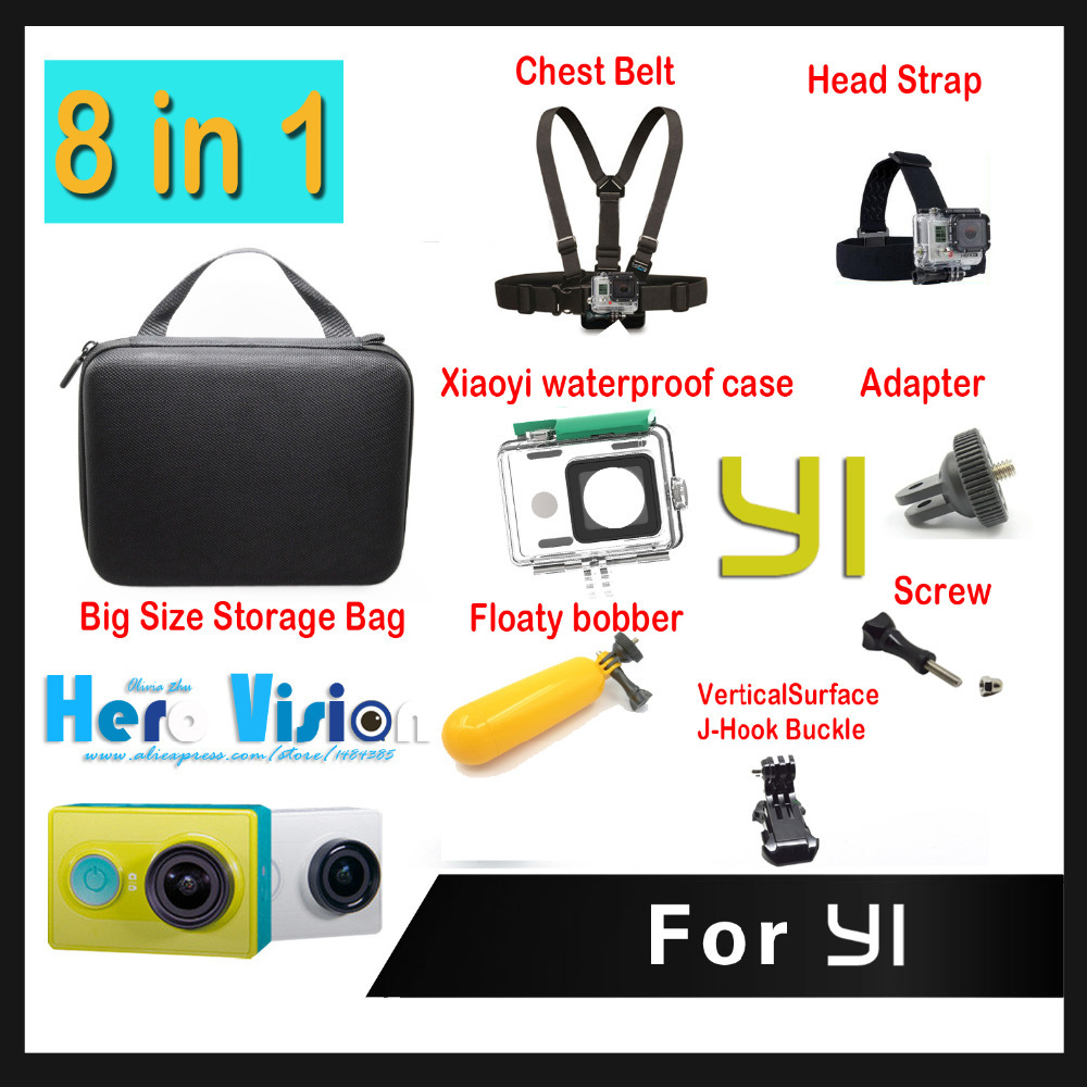 Xiaomi Xiaoyi Camera Accessories 7 In 1 Xiaomi Yi Waterproof Case + Camera