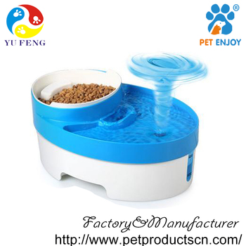 Automatic pet feeder double bowl Dog Feeding & Watering Supplies
