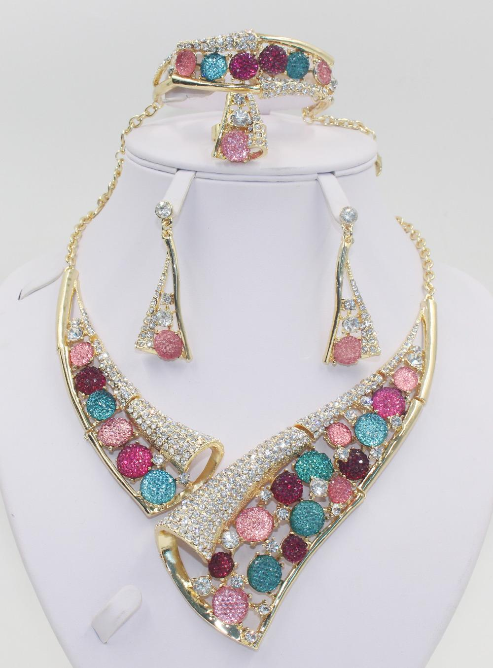 Free Shipping! African Bridal Costume Jewelry Set High