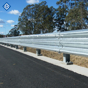 w beam galvanized armco steel road safety crash barrier