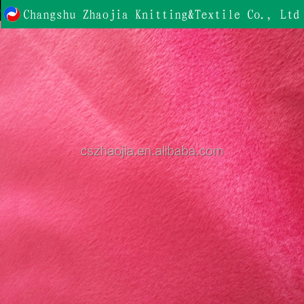 chinese oeko tex fancy knitting factory Printed Super Soft Velboa Short pile / Toy fabric from China manufacturer