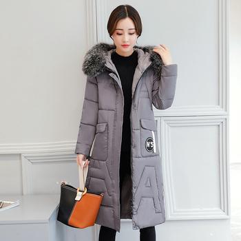 Длинные женские зимние куртки пальто толстые теплые хлопковые парки пальто  женские высокого качества зимняя верхняя одежда 24694a25d4c5b