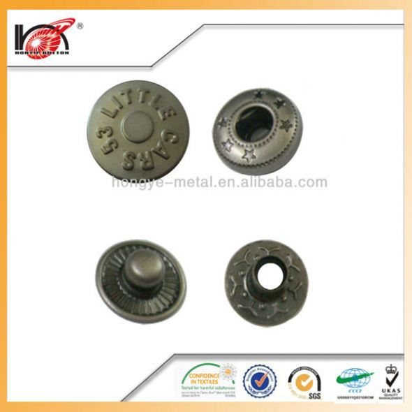 Dome Stainlessdome Metal Spring Snap On Buttons Button For Garment