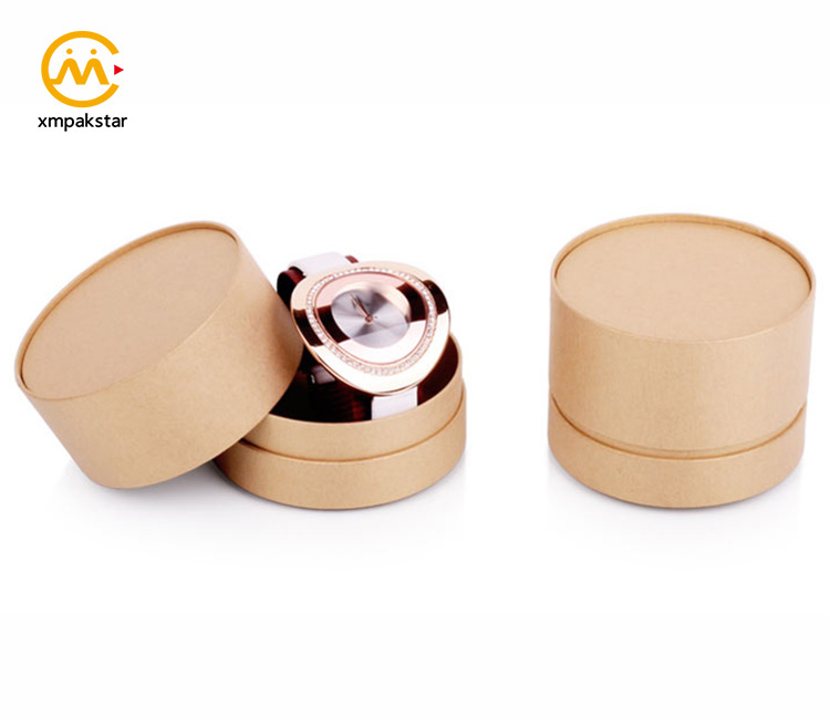 Wholesale custom printing empty cardboard round paper gift belts watches packaging boxes