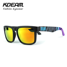 Kdeam Sport font b Sunglasses b font font b Men b font Reflective Coating Square Polarized
