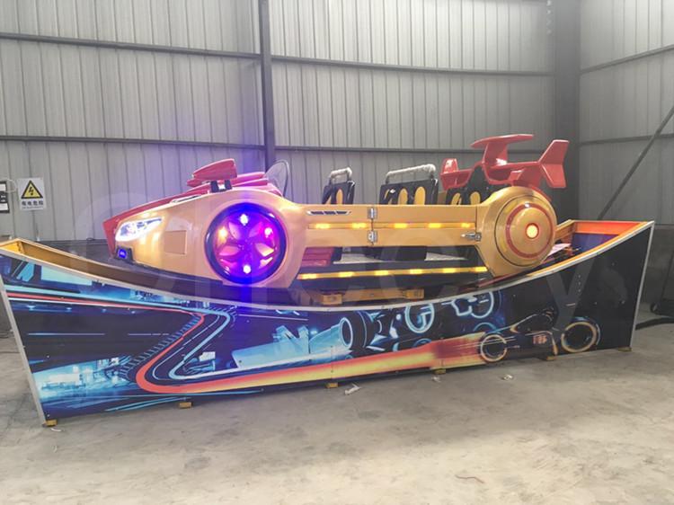 Zhengzhou Alegre adultos crianças parques de diversões passeio de velocidade do carro elétrico mini carro voador na pista