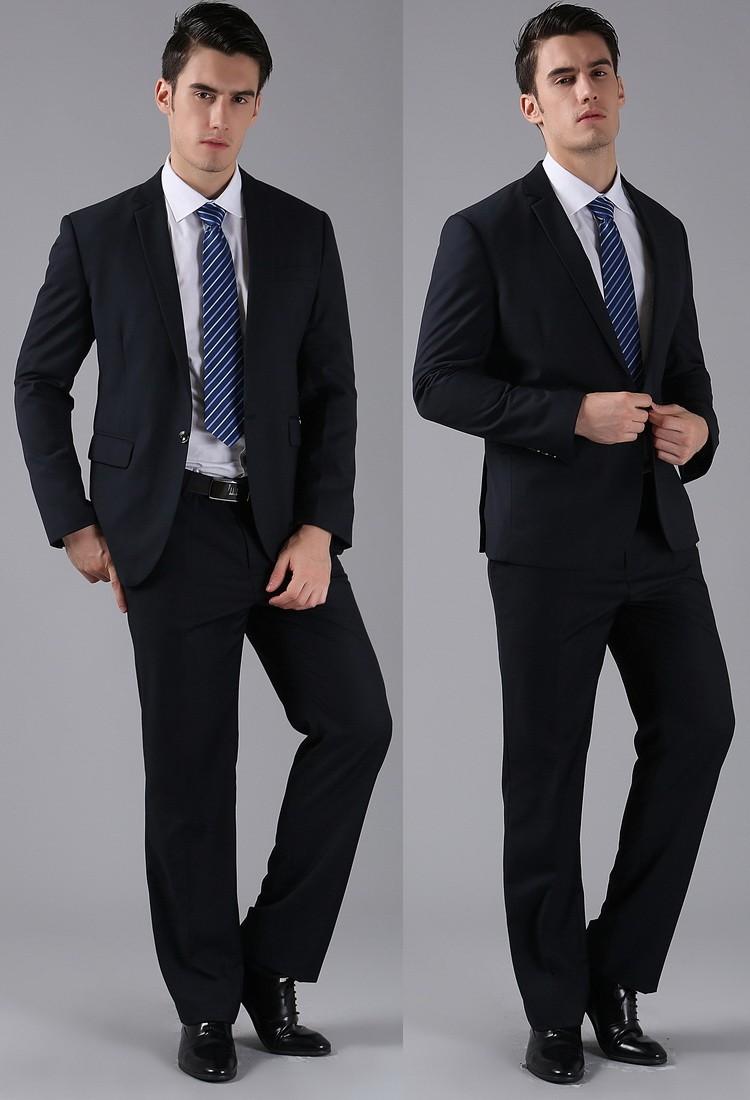 (Kurtki + Spodnie) 2016 Nowych Mężczyzna Garnitury Slim Fit Niestandardowe Garnitury Smokingi Marka Moda Bridegroon Biznes Suknia Ślubna Blazer H0285 34