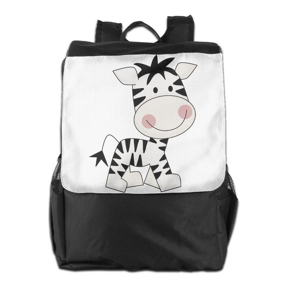 KING ROYAL Outdoor Travel Backpack Bag - Cartoon Cute Zebra Unisex Casual Shoulder Bag Backpack Daypack Rucksack
