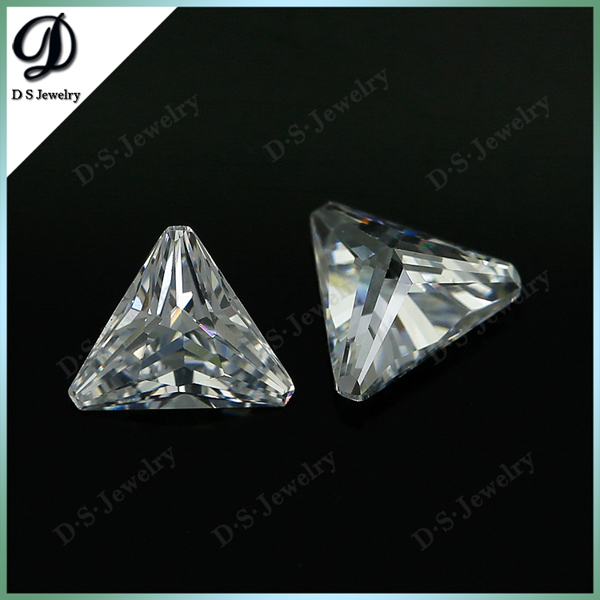 6*6mm Cubic Zirconia White Triangle Gemstone Zircon Stone