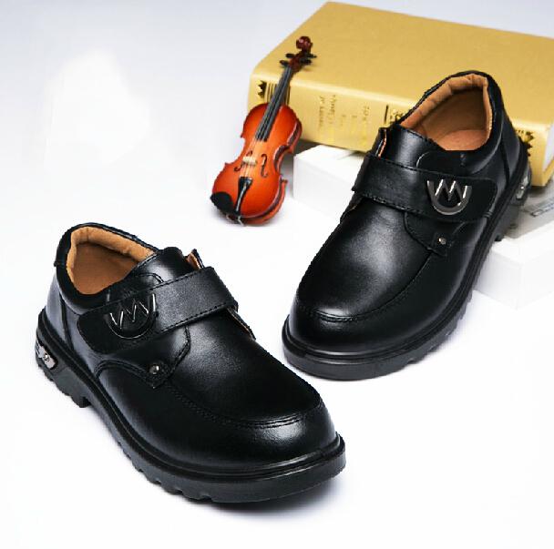 c3f039dde37e Get Quotations · 2015 Spring/Autumn Children genuine leather shoes boys  black school shoes child wedding shoes