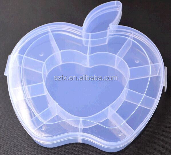 16*15cm apple shape clear plastic box for packing small things