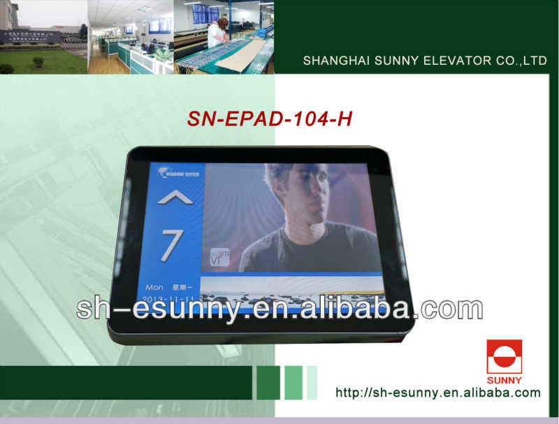 multifunction elevator LCD display for kone / mitsubishi spare parts / elevator lcd display