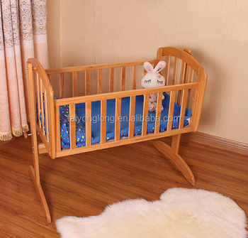 Non-toxic painting baby bed cradle swing baby portable cradle wooden baby  cradle 13adf3885