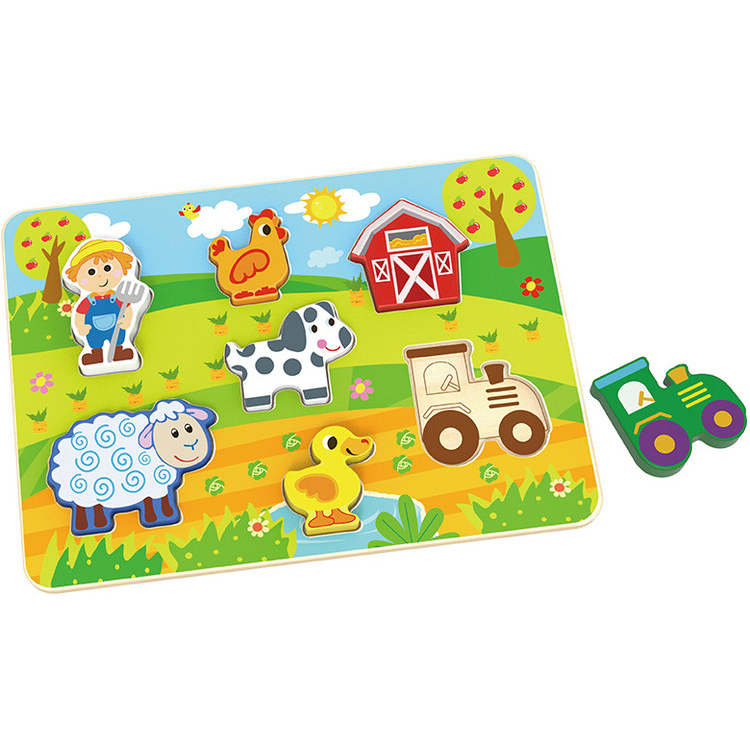 Educational Toys for Kids Chunky Puzzle - Farm