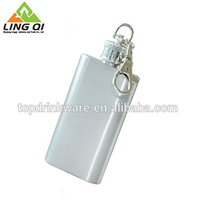 Cheapest popular 2 OZ mini stainless steel hip flask keychain design