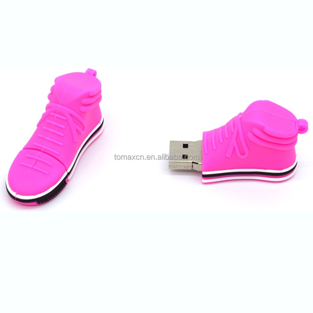 Best seller pink running shoes figure usb flash drive for promo gifts
