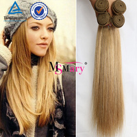 Wholesale Free Shipping Platinum Blonde Virgin Indian Silky straight Hair 3 Bundles 100% Raw Unprocessed Virgin Indian Hair