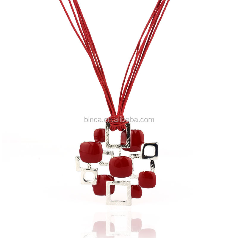 Fashion red enamel Necklaces A173