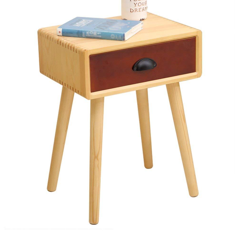 PM-Nightstands Pine Wood Lockers Bedroom Nightstand Drawer Storage Cabinet Corner Cabinet (Color : F)
