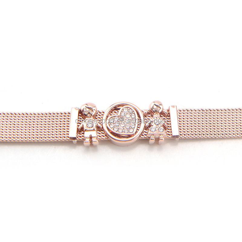 Hot Selling Stainless Steel Rose Gold Plating Tiny Chain Bracelet