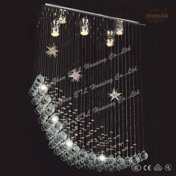 Baratos 2013 forma de estrella de cristal moderna l mpara - Lampara de arana moderna ...