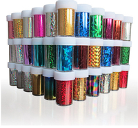 Hot New Custom shiny nail stickers 4x100cm transfer foil for DIY Beauty Foil Stained Sticker Nail Art
