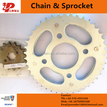 A3 steel motorcycle chain and sprocket kit