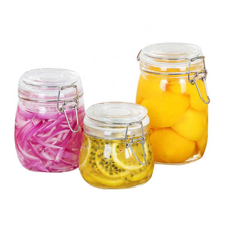 Barato al por mayor de vidrio frascos de miel 250 ml hexagonal frascos de vidrio para mermelada y miel