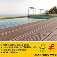 Grooved WPC Panel Eco Friendly Wood Plastic Composite Decking Outdoor Waterproof Composite Flooring