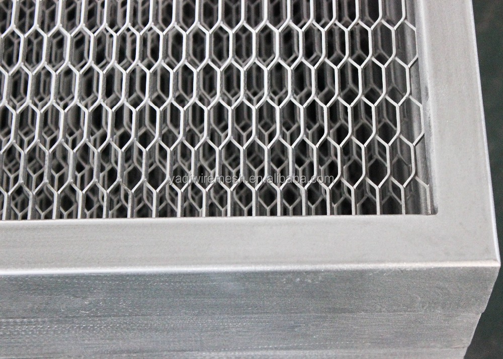 Decorative Aluminum Expanded Metal Mesh Grid For Ceiling Tiles