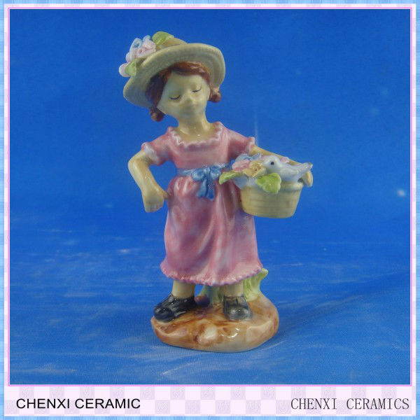 porcelain figure;porcelain dancing girl, home decoration