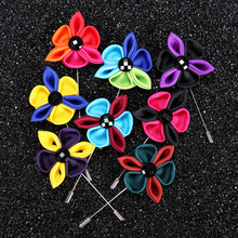 Stock felt flower men's lapel pin, brooch pin crafts for men