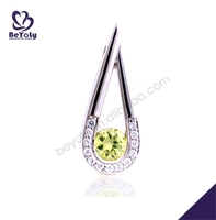 Green cz silver jewelry australian crystal necklace