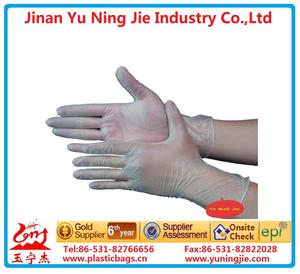 Transparent HDPE disposable glove for food handling
