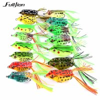 Fulljion Topwater Wobblers Minnow Crankbaits for Fly Fishing Artificial Insect Soft Lures Frog Fishing Lures