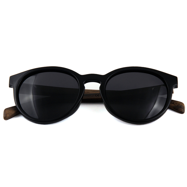 1bb97e028a Zogift 2019 tendencia de moda Rosa marco de madera gafas cat 3 polarizado italiano  ronda de
