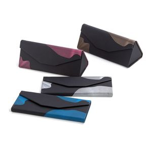 Supper September folding sunglasses case professional factory supply branded triangle folding glasses case