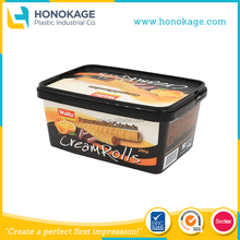 Margarine Container,Supplier of 250ml Rectangle Margarine Tub