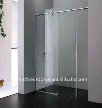 Walking In Line Glass Sliding Shower Door U0026 Shower Enclosure U0026 Shower  Screen Wtih Stainless Steel