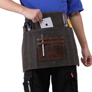 Vintage Style Waterproof Waxed Canvas Apron Bag