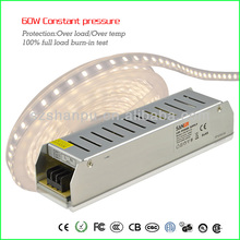Universal 60W 100-240V AC to 12V/24V DC 5A/2.5A Switching Power Supply Driver 4 LED Strip