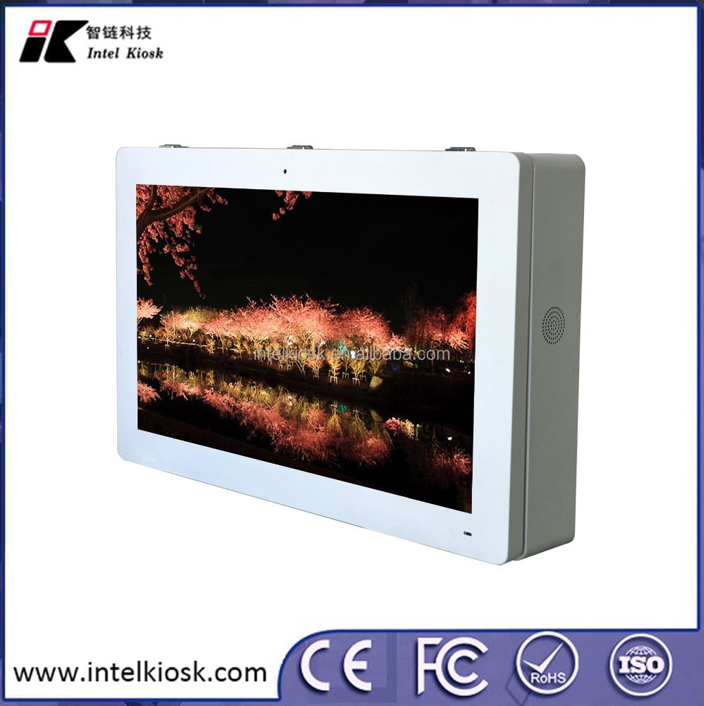 "21.5"" IP55 wall mount lcd display high brightness monitor Outdoor Advertising Player"