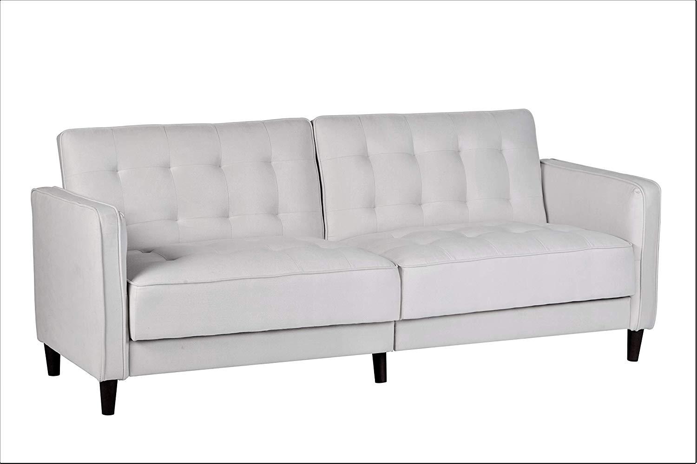 Buy Modern Tufted Fabric Sleeper Sofa Bed With Nailhead Trim