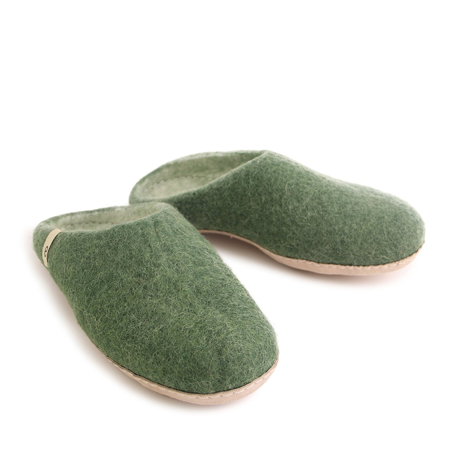 Egos House Slippers: 100% Natural Sheep Wool Handmade Slippers| Warm, Ultra Comfortable & Moisture-Wicking| Deluxe Slip on Slippers with Anti-Skid Leather Sole| Bedroom Slippers for Men, Women & Kids