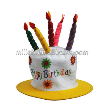 Happy Birthday Party Cake Candle Top Hat For Children Kids MH 1700