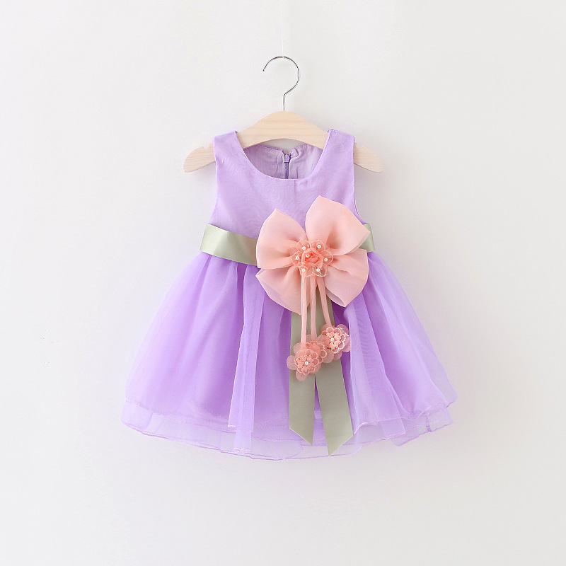Princesa vestido del bebé de la fiesta de cumpleaños para la ...