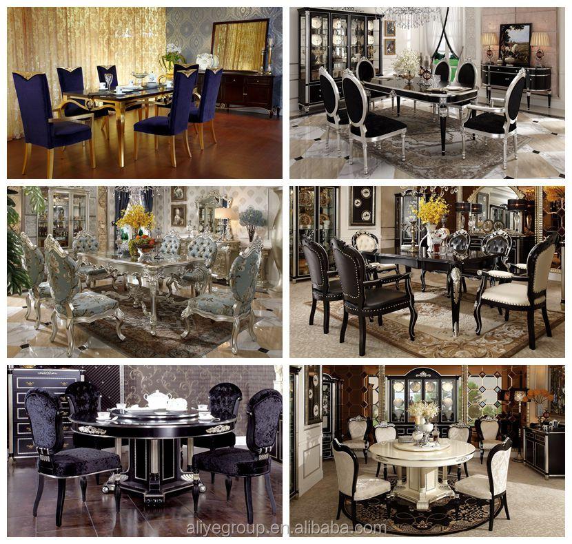 2017 Hot Sale Foshan ALIYE 6 Seater Modern Round Dining Table Set Made In China