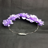 Wholesale China Novelties Import New Product LED Light Flower Crowns Party Favors Artificial Flowers Headband